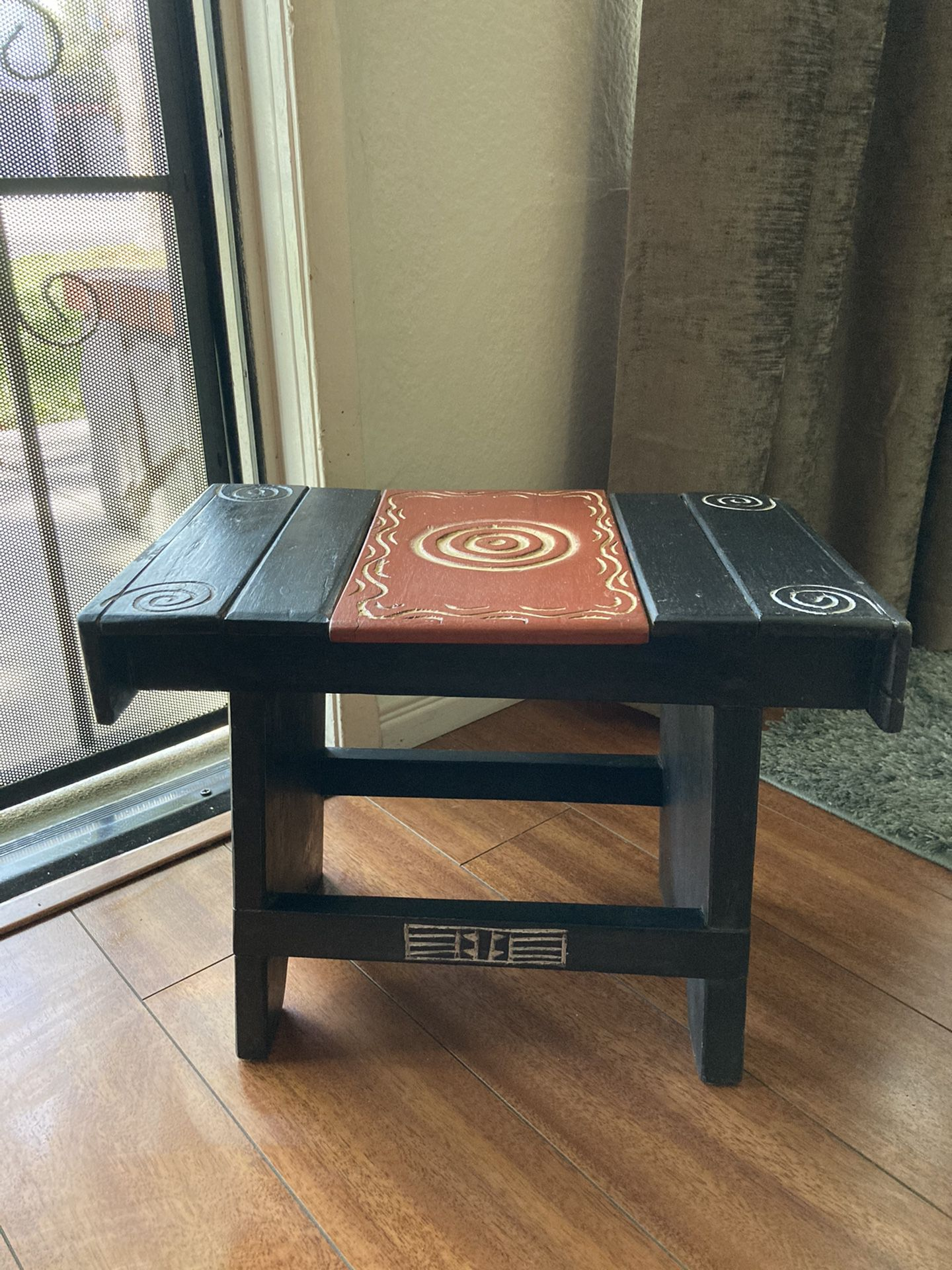 Wooden Handmade carved Step stool