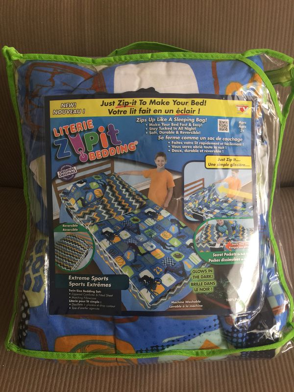 Brand New Zipit Bedding For Boys Extreme Sports Design For Sale In