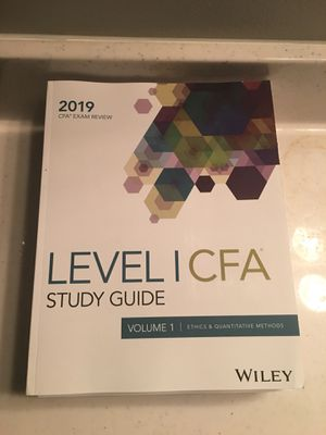 CFA Exam Study Guide 2019 for Sale in New York, NY