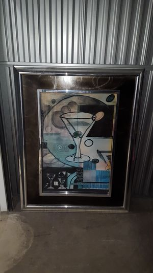 Large Painting In A Silver Frame & Thick Glass To Protect for Sale in St. Louis, MO