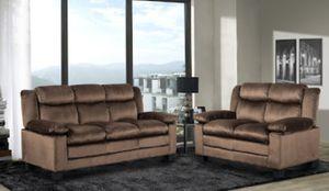 Brand New Brown Microfiber Sofa + Love Seat for Sale in Arlington, VA