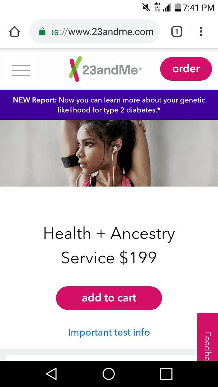 New unopened $200 23 and me ancestry kit for $80