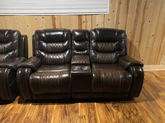 Leather Power Reclining Couches Thumbnail