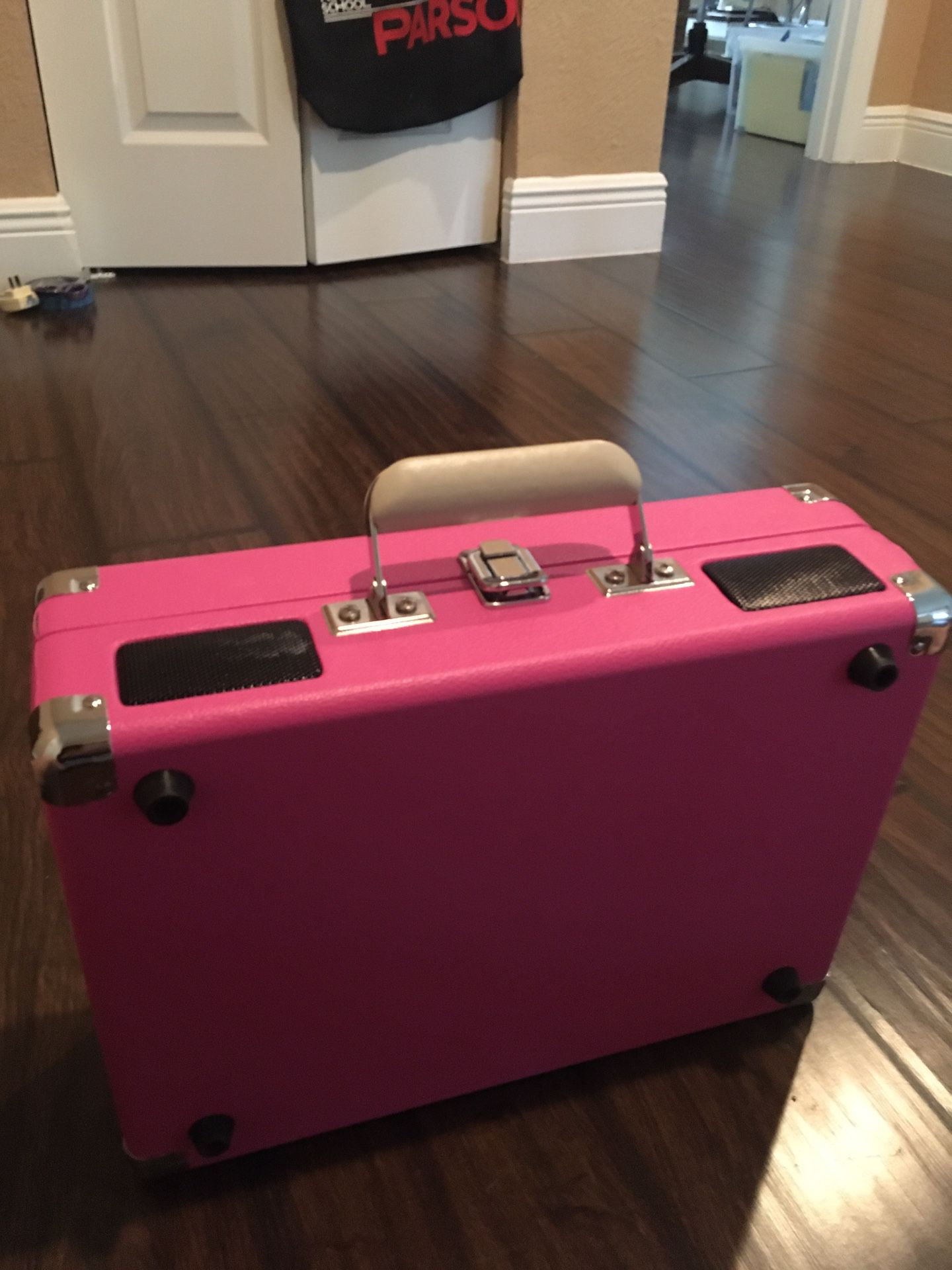 Crosley Pink Record Player