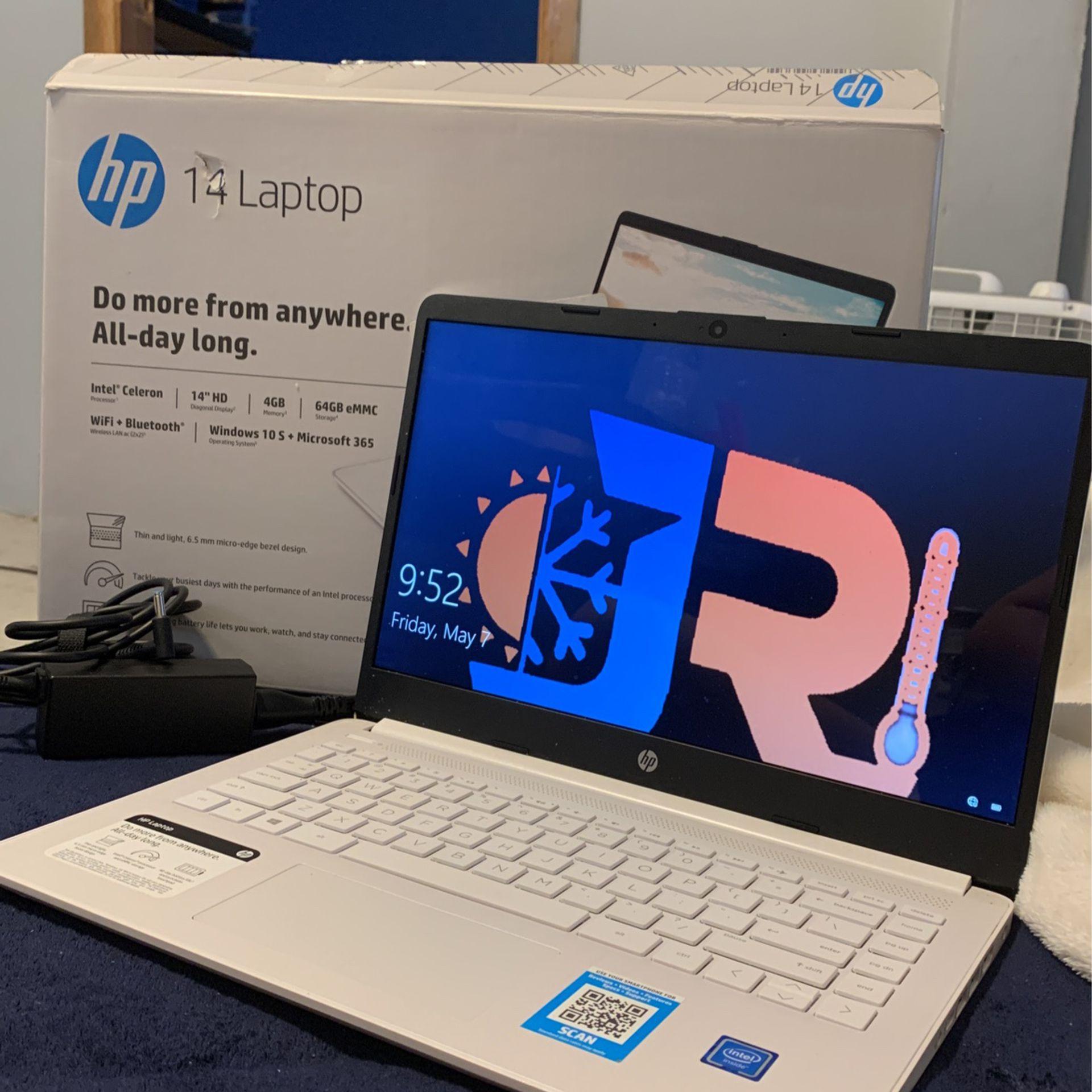 HP 14 Latop,  White