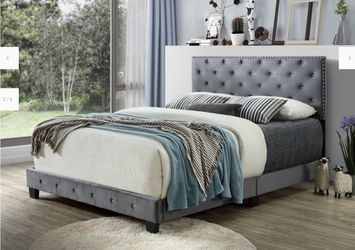 Queen Bed With Mattress Delivery Available Thumbnail