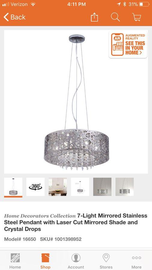 brand new home decorators collection 7 light pendant chandelier