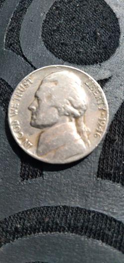 1946 No Mint War Nickle In Good Shape. Thumbnail