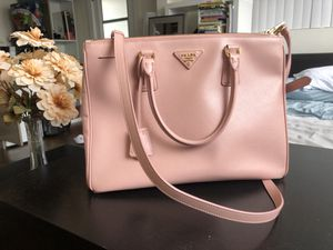 fbbaa97f6eccf8 Pink Prada Saffiano briefcase work bag leather tote for Sale in Pasadena, CA