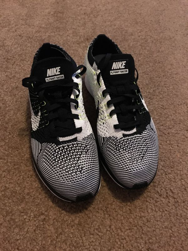 d94dcc6be8b7 Nike Flyknit Racer Oreo Black White Volt Shoes Size 7 Women s for ...