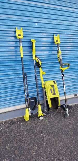 Photo Assorted Ryobi Trimmers and Edges Parts only - Not complete Selling everything shown in photos