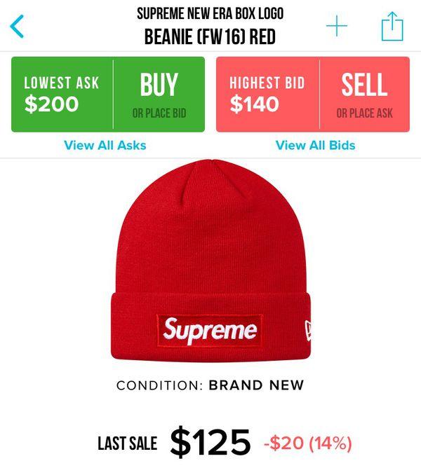 Supreme New Era Beanie (FW16) for Sale in Hacienda Heights dbcd7c15ed7