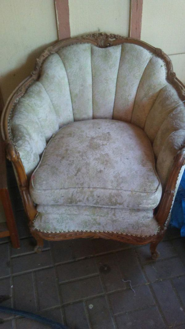 Antique looking chair could use new fabric no rips $50 very heavy and  sturdy (Antiques) in Phoenix, AZ - OfferUp - Antique Looking Chair Could Use New Fabric No Rips $50 Very Heavy