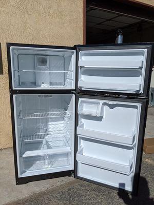 Photo Good Working GE Black Apartment Size 15 cu ft Refrigerator Freezer