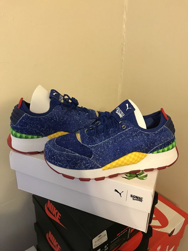 a21f2d388b5cd8 New Limited Puma RS-0 Sonic The Hedgehog Blue Size 9.5 with Receipt. Sunrise  ...