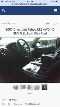 2007 Chevorlet Tahoe 4x4 Thumbnail