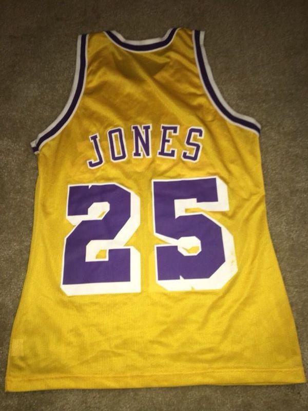 online store 259a2 746dd Throwback Lakers jersey - Eddie Jones #25 for Sale in Jacksonville, FL -  OfferUp