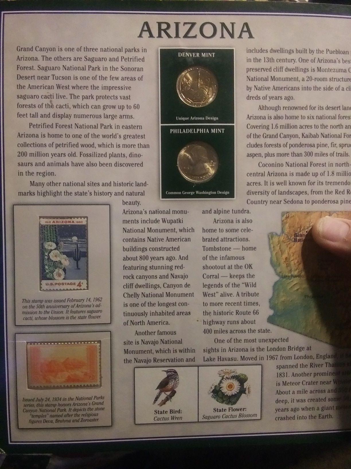 Arizona limited mint quarters.