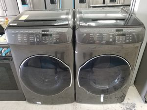 2018 Samsung flex stainless steel electric washer and dryer pair for Sale in San Diego, CA