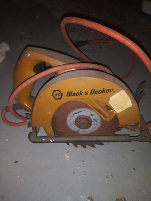 Photo Vintage black and Decker skill saw