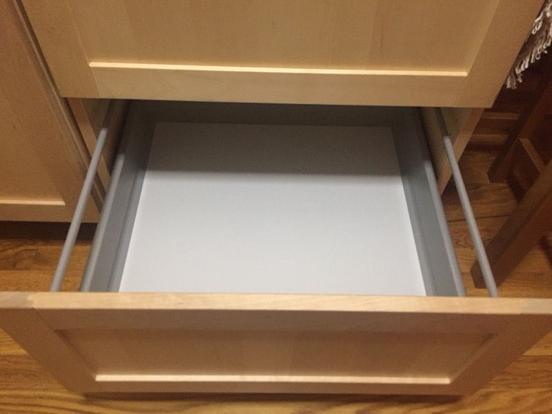 Kitchen cabinet and table