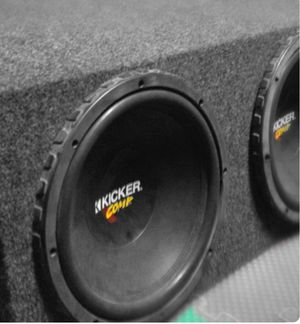 Photo Kicker comp. 2 12in speakers wit box and amp