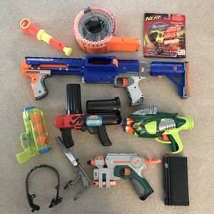 Nerf gun toys lot for Sale in Silver Spring, MD