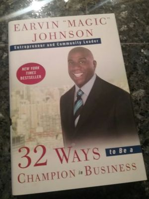 Earvin Magic Johnson autographed book titled 32 Ways to Be a Champion in Business for Sale in Scottsdale, AZ