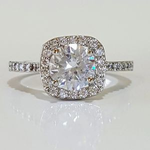 1.0ct sterling silver plated wedding engagement ring women's jewelry for Sale in Silver Spring, MD