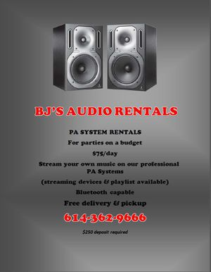 Speakers PA Systems for Sale in Columbus, OH