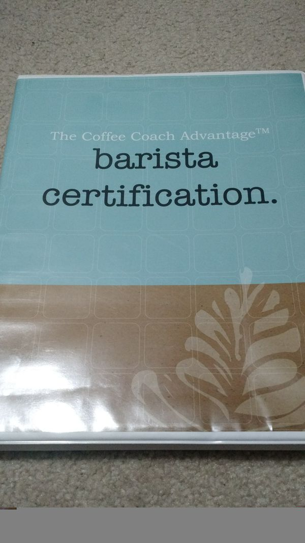 Barista Certification Course Dvd Manual General In Snohomish Wa