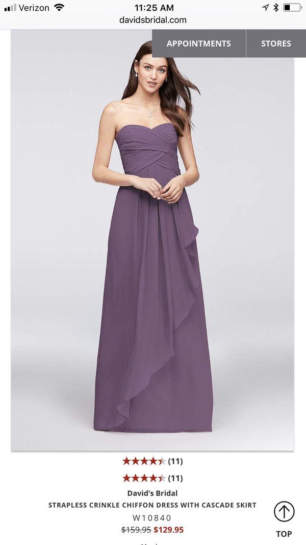 David\'s bridal bridesmaid dress- wisteria color for Sale in Glendale ...