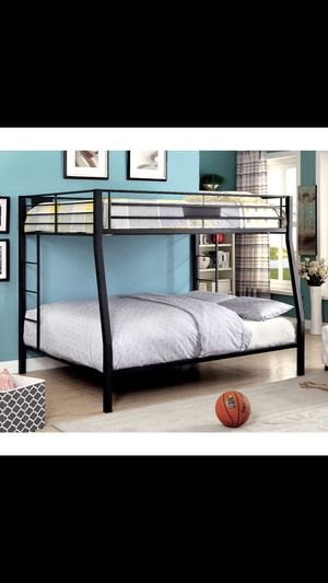 Full XL over queen bunk bed(gray) for Sale in Lorton, VA