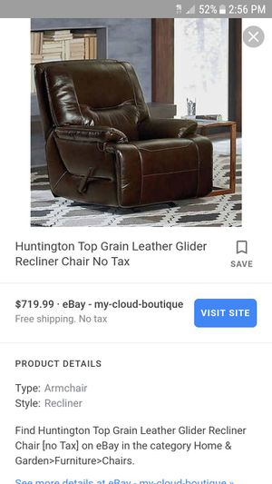 Brand new SIMONLI LEATHER GLIDER RECLINER for Sale in Fayetteville, GA