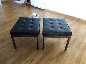 Vintage contemporary leather ottomans for Sale in San Diego, CA