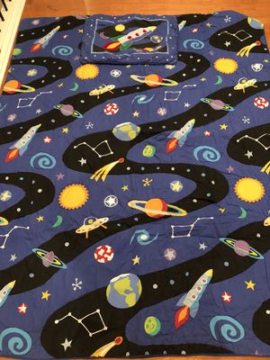 Space Twin Comforter - Planets - Solar System - I have 2 sets. Perfect for Bunk Beds for Sale in Hollywood, FL