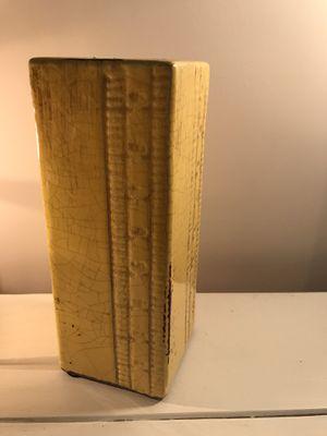 Yellow Ruler Vase for Sale in Atlanta, GA