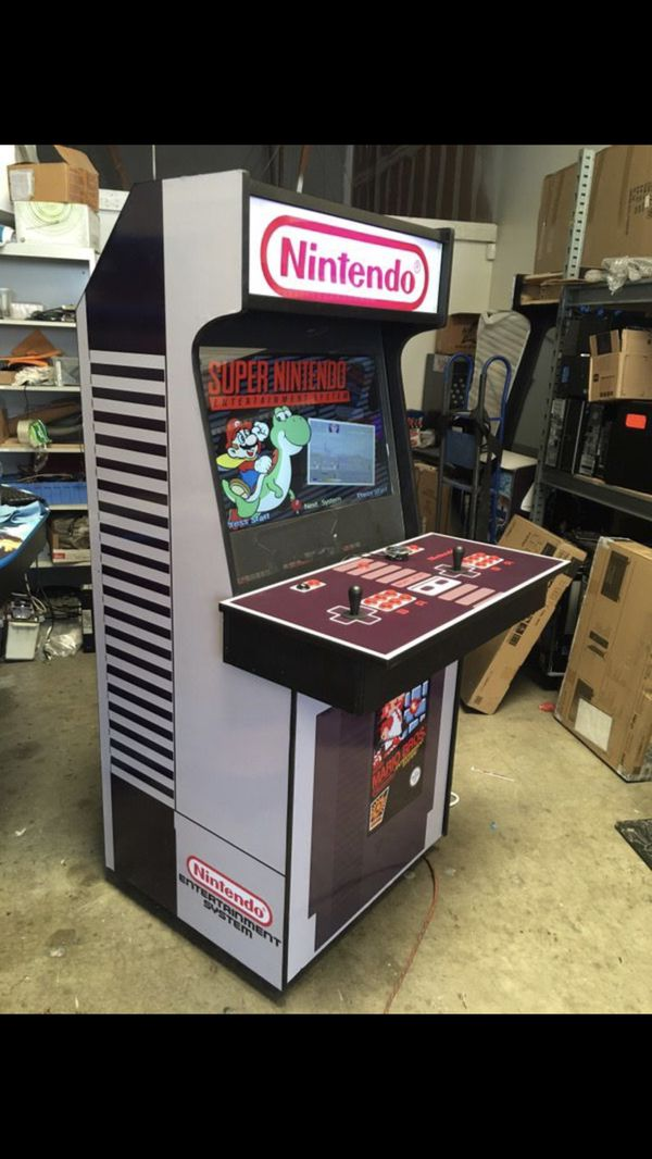"""New Arcade 2 player, 32"""" LCD Nintendo NES theme 6000+ games MAME HyperSpin  for Sale in Santa Fe Springs, CA - OfferUp"""