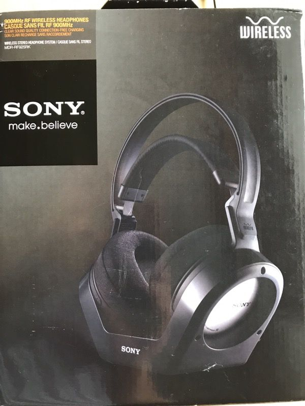 Sony Wireless 900 MHz Headphones MDR RF925RK New