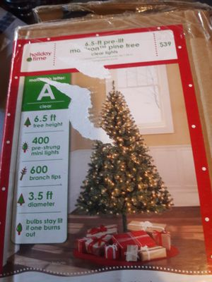 6.5 foot artificial Christmas tree and accessories for Sale in Aldie, VA
