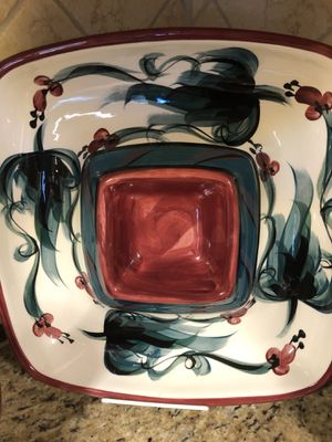 Dipping platter Collectible artist signed for Sale in Orlando, FL
