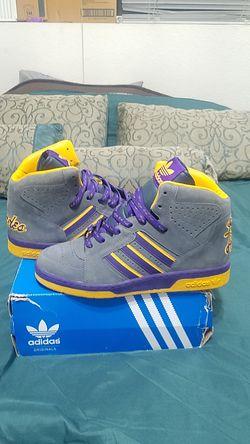 Adidas Retro NBA Official Lakers Anthrocite Smoke (New) Thumbnail
