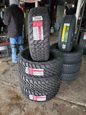 Photo 285/70/17 LT new mud tires for $695 with balance and installation We also finance {contact info removed} Dorian 7637 airline dr houston TX 77037