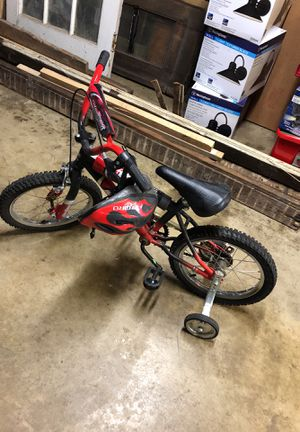 Bike with training wheels and helmet included little kids bike for Sale in Rockville, MD