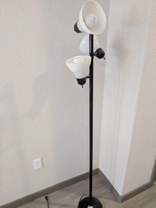Mainstays Track Tree Floor Lamp Black