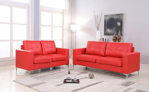 Red Leather Sofa & Loveseat FREE DELIVERY for Sale in Silver Spring, MD