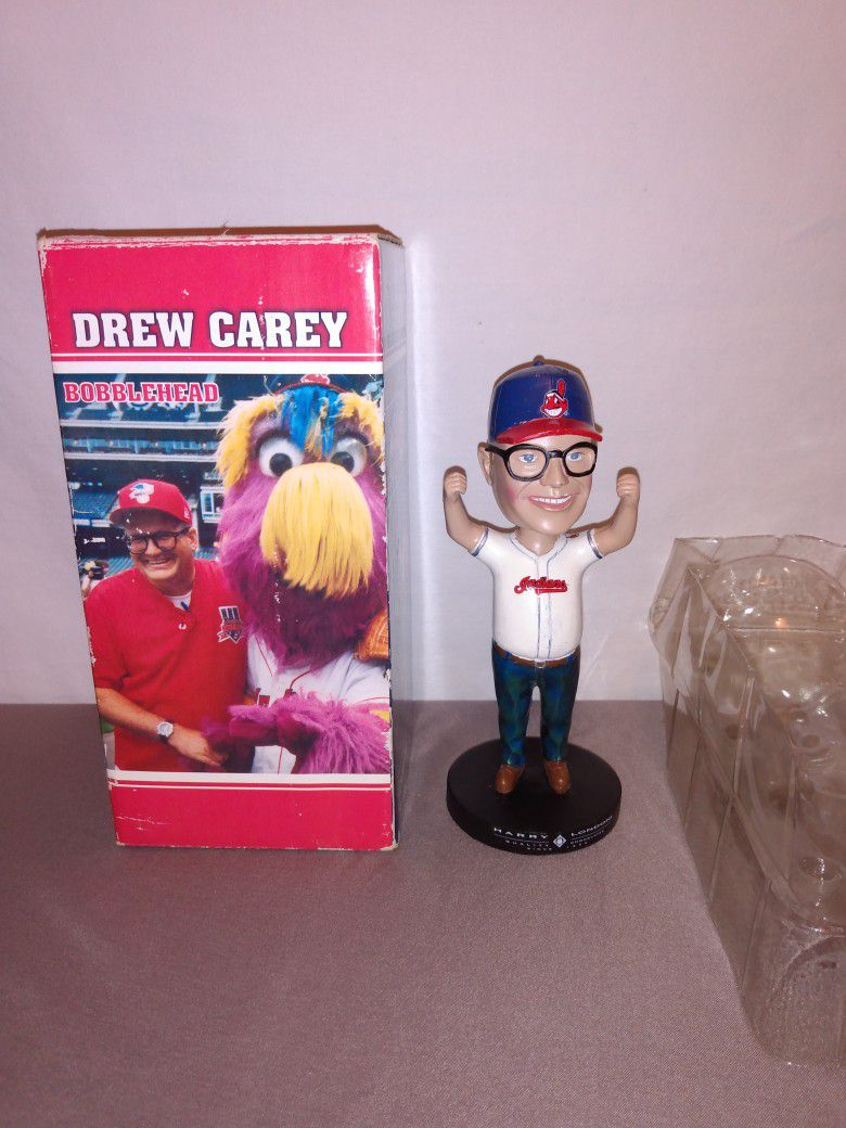 Cleveland Indians Drew Carey special edition bobblehead