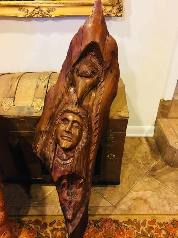 Handmade wood carvings for sale in indiantown fl offerup