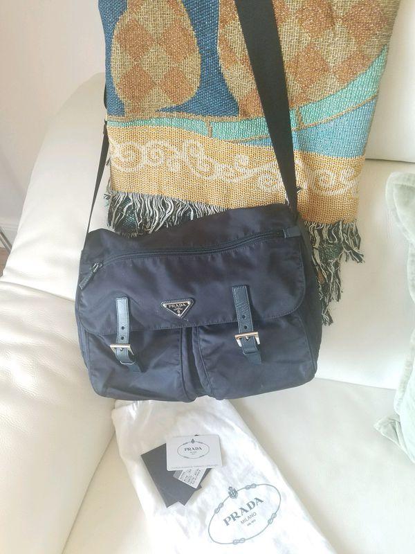 4adf851b4cfb 100% Authentic Prada Messenger bag purse, used as diaper bag for ...
