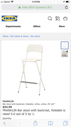 Swell 2 Ikea Franklin Bar Stools With Backrest Foldable White Theyellowbook Wood Chair Design Ideas Theyellowbookinfo